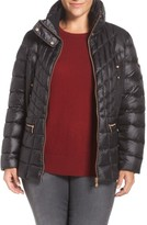 Bernardo Plus Size Women's Packable Jacket With Down & Primaloft Fill
