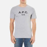 A.p.c. A.p.c Us Crew Neck Tshirt - Gris Clair Chine
