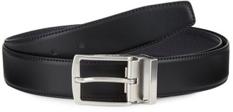 Giorgio Armani Classic Buckle Leather Belt