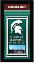 """Michigan State Spartans Rose Bowl Champions 4.5"""" x 27.5"""" Framed Banner"""