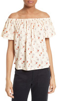 Rebecca Taylor Wild Posey Off the Shoulder Top