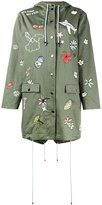 Mira Mikati embroidered hooded parka - women - Cotton/Polyester - 38
