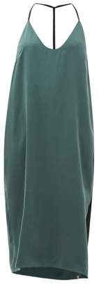 Lunya - Halterneck Silk Nightdress - Womens - Green
