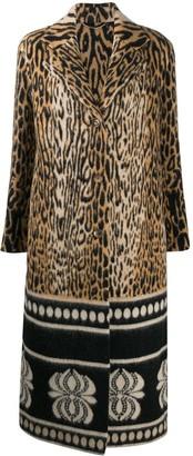 Ermanno Scervino Leopard Print Knitted Coat