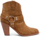 Saint Laurent Curtis Suede Ankle Boots - Camel