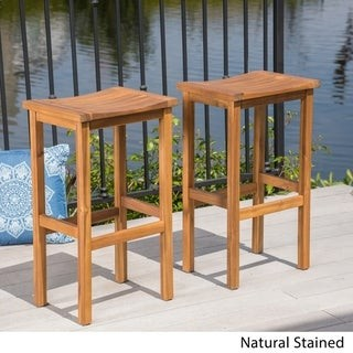 Christopher Knight Home Caribbean Outdoor 30-inch Acacia Wood Barstool