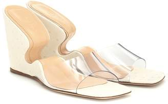 BY FAR Greta PVC and leather sandals