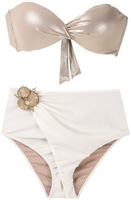 Adriana Degreas Floral Applique Bikini Set