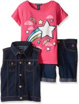 Limited Too Big Girls' 3 Piece Vest, Bermuda Short and T-Shirt