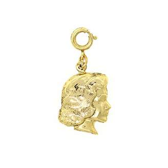 1928 Jewelry Mother's Day Items tone Girl Head Charm