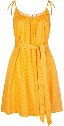 Cat Turner London Yellow Summer Dress With Polka Dots