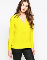 French Connection Arrow Crepe V Neck Tunic