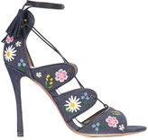 Tabitha Simmons floral embroidery 'Honor' sandals - women - Cotton/Calf Leather/Leather - 36