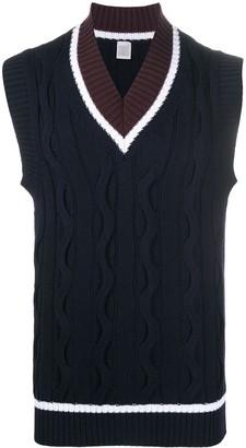 Eleventy Cable Knit Vest