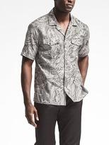 Banana Republic Piece & Co. Leaf Print Double-Pocket Shirt