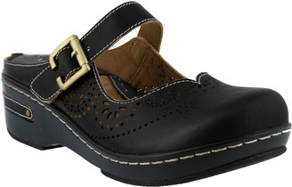 Spring Step L'Artiste by Open Back Leather Clogs - Aneria