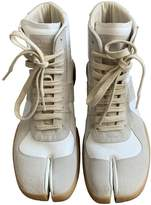 Maison Margiela White Suede Trainers