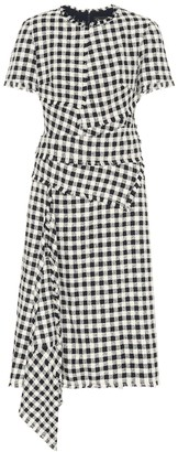 Oscar de la Renta Checked tweed midi dress