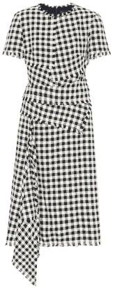 Oscar de la Renta Checked tweed midi dress