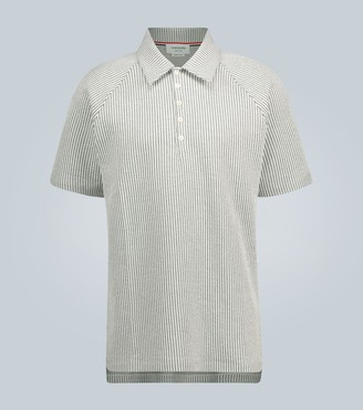 Thom Browne Short-sleeved seersucker polo knit