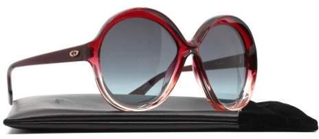 Christian Dior Bianca 0T5I7 Sunglasses Burgundy Peach Frame Grey Lenses 58mm