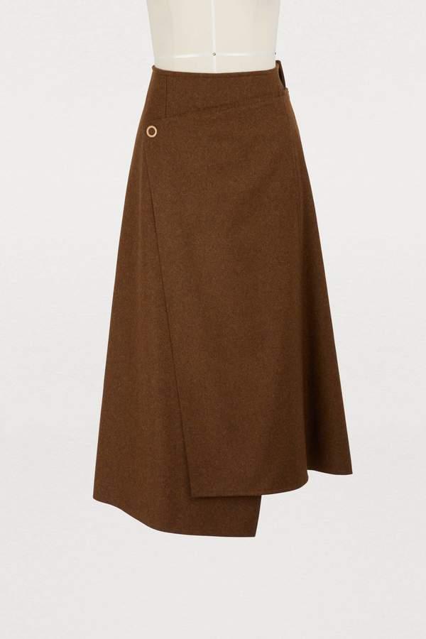 Acne Studios Wrap wool skirt