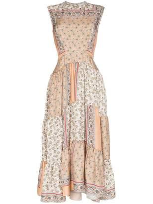 Chloé Sleeveless Bandana Print Maxi Dress