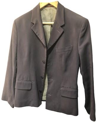 Et Vous Blue Cotton Jacket for Women