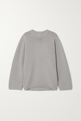 Totême Marans Oversized Merino Wool And Cashmere-blend Sweater - Purple