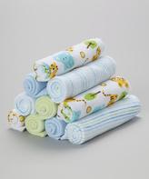 SpaSilk Blue Tiger Washcloth Set