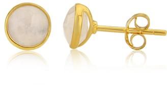Auree Jewellery Savanne Gold Vermeil & Moonstone Stud Earrings