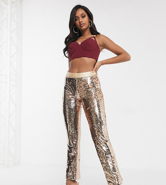 Unique21 Hero Unique 21 sequin pants in copper