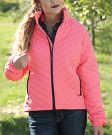 Coral Quilted Puffer Jacket