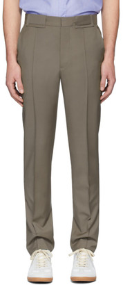 Maison Margiela Taupe Wool and Mohair Trousers