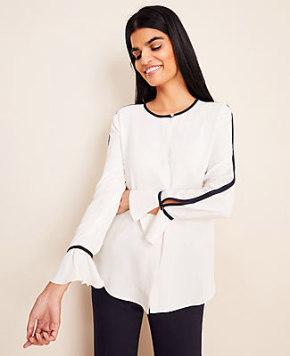 Ann Taylor Contrast Tipped Popover
