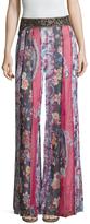 Haute Hippie Marisa Silk Printed Wide Leg Pant