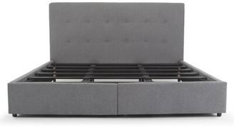 Latitude Run Breiah Tufted Upholstered Low Profile Storage Platform Bed Color: Dark Gray, Size: King