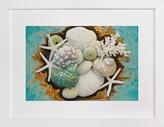 Minted Sea Shell Swirls Art Print