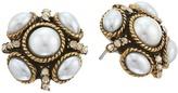 Oscar de la Renta Classic Button P Earrings Earring