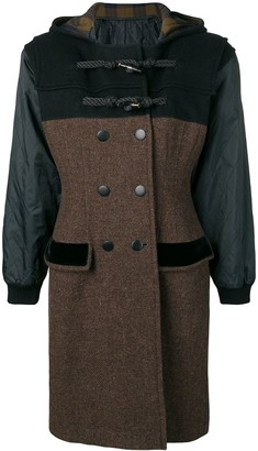 Jean Paul Gaultier Pre Owned hooded double-breasted coat