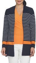 Chaus Nautical Breeze Striped Cardigan