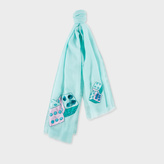 Paul Smith Women's Jade 'Double Dice' Embroidered Wool Scarf
