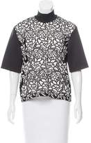 Sandro Guipure Lace Short Sleeve Top