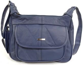Lorenz Ladies Leather Shoulder Bag / Handbag with Mobile Phone Pocket. ( Brown )