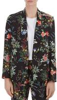 Gerard Darel Regine Floral-Print Blazer