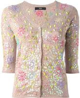 Steffen Schraut floral embroidery cardigan - women - Polyamide/Polyester/Viscose/Cashmere - 34