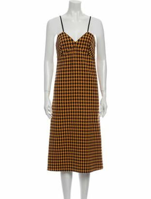 Victoria Beckham Plaid Print Midi Length Dress w/ Tags