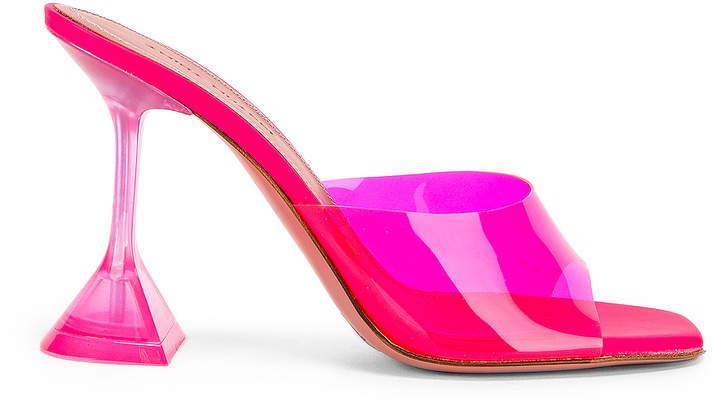 Amina Muaddi MUADDI Lupita Glass Sandal in Pink Fluo | FWRD