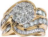 JCPenney FINE JEWELRY 4 CT. T.W. Diamond 14K Two-Tone Gold Swirl Ring