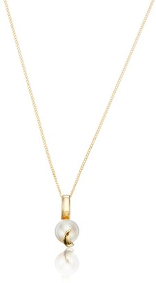 Lily & Roo Solid Gold Single Pearl Necklace